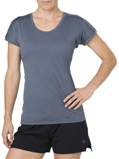 asics Capsleeve Top - Camiseta Running Mujer - gris